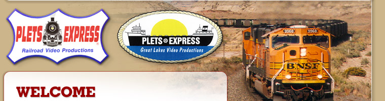 Welcome to Plets Express train and ship video productions.