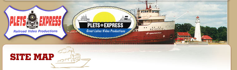Plets Express train and ship videos site map