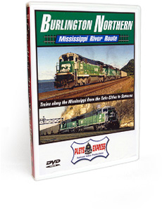 Burlington Northern Mississippi River Route DVD Video